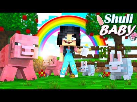 ShuliBaby SE PIERDE En El Mundo De MINECRAFT!! // Shuli Baby En Minecraft #1 // Minecraft Roleplay