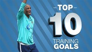 Top 10 Man City Training Ground Goals 2015
