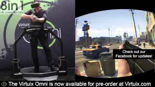 ГТА 5 в очках виртуальной реальности Окулус Рифт и Виртукс Омни   GTA V Oculus Rift   Omni Virtuix 7(, 2015-10-13T09:16:12.000Z)