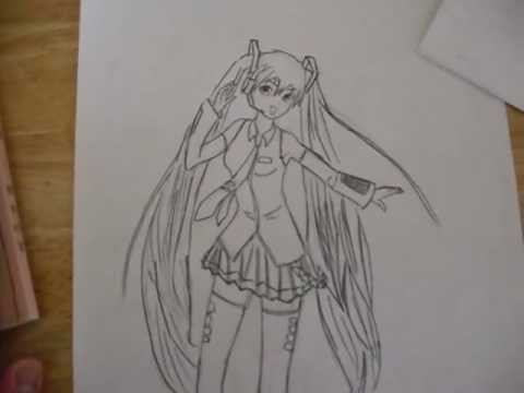 Hatsune Miku Drawing-Mark Crilley is Awesome. - YouTube Hatsune Miku Drawing Markcrilley