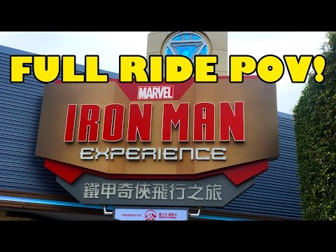 New Iron Man Experience Full Ride POV Hong Kong Disneyland