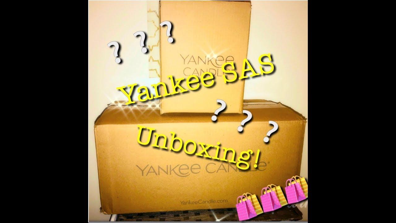 YANKEE CANDLE SAS UNBOXING