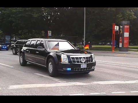 the beast auto komplette kolonne donald trump president. Black Bedroom Furniture Sets. Home Design Ideas