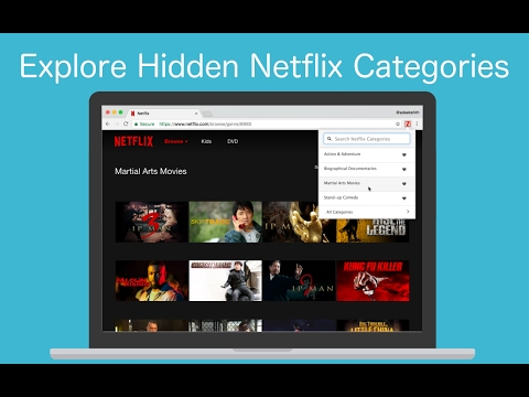 Introducing Netflix Categories Chrome Extension