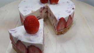 免烤 生酮草莓生乳酪蛋糕 (6吋活動蛋糕模)