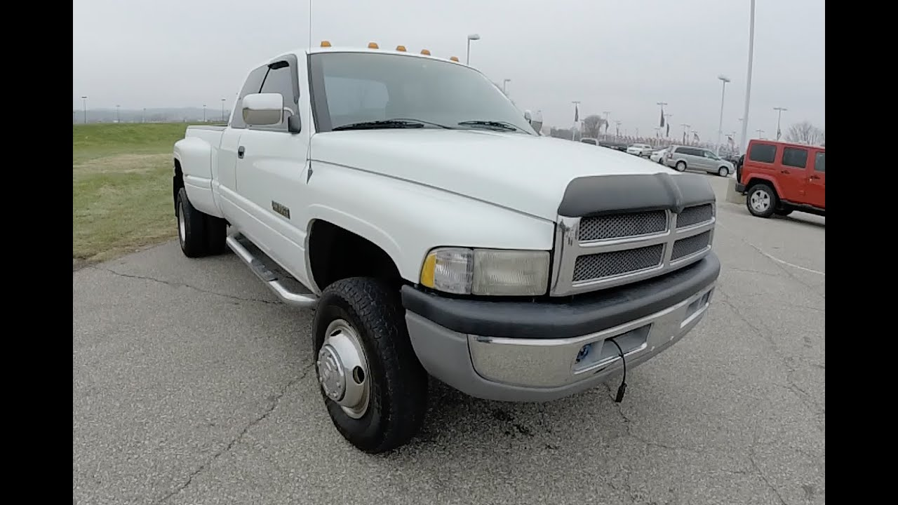1997 Dodge Ram 3500 Club Cab Slt Laramie Drw P9986a Youtube