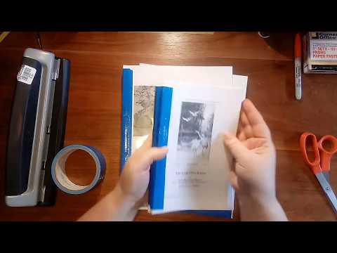 Book Binding Tutorial Using Prong Paper Fasteners