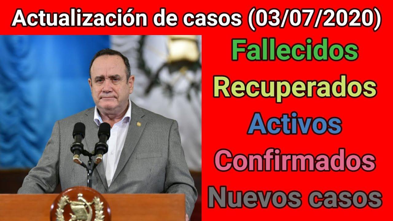😷 Actualización de casos diarios del MSPAS (03/07/2020) - por MOVIMIENTO GT