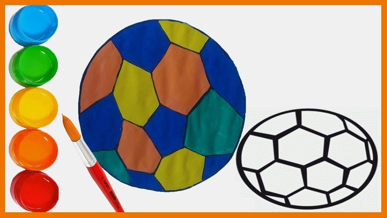Futbol Topu çizimi Ve Boyama çocuklar Renkleri öğreniyor Bisbis