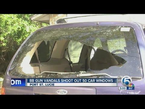 BB gun vandals shoot out 50 car windows
