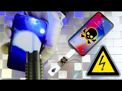 iPhone X vs USB Killer & Burning Laser!