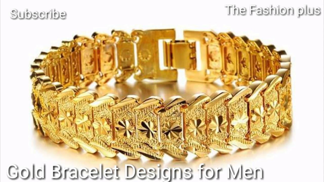Gold Bracelet Designs For Men - YouTube