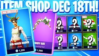 Fortnite Item Shop! RED-NOSED RAIDER! CANDY AXE! Daily & Featured Items! (December 18th 2018)