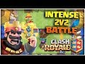 Intense 2v2 With Random Friends!!|Clash Royale