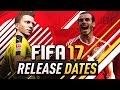FIFA 17 RELEASE DATES - DEMO, WEB APP & EARLY RELEASE
