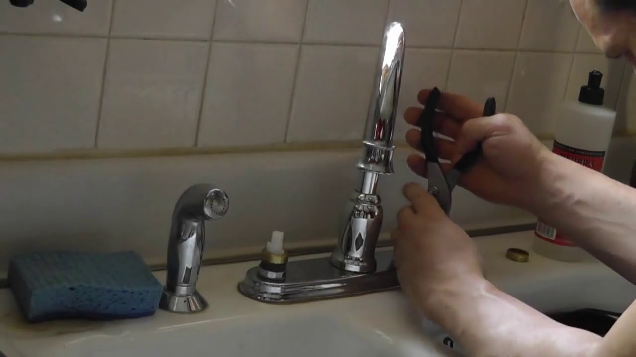Moen High Arc Kitchen Faucet Dripping Leak Repair YouTube
