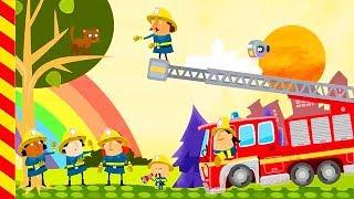 Развивающий мультфильм про пожарную машину. Машинки мультики Пожарники тушат пожар Игра про пожарных
