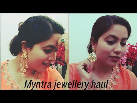 Myntra jewellery haul 2018/zaveri perals haul/try on/haul part 3/Swati Rastogi