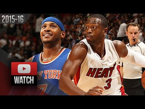 Dwyane Wade vs Carmelo Anthony Duel Highlights (2015.11.23) Heat vs Knicks - SICK!