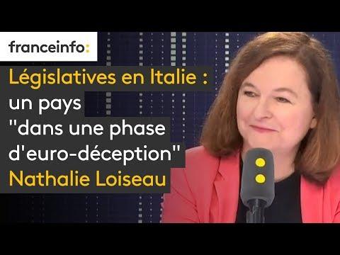 """Législatives en Italie : un pays """"dans une phase d'euro-déception"""" Nathalie Loiseau"""
