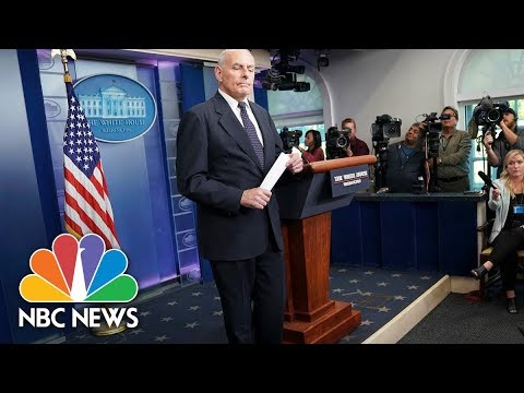 General John Kelly Speaks at White House Briefing - October 19, 2017 (Full) | NBC News