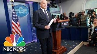 General John Kelly Speaks at White House Briefing - October 19, 2017 (Full) | NBC News thumbnail