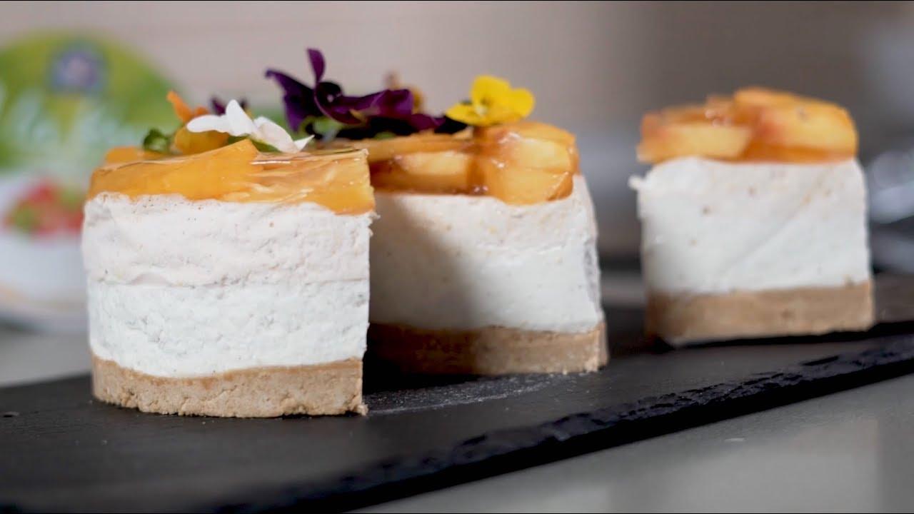 Torta od breskvi i A la krema - YouTube