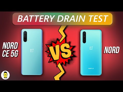 OnePlus Nord CE 5G vs OnePlus Nord | Battery Drain Test!