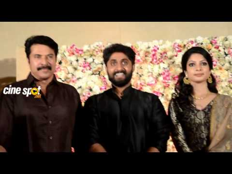 Mammootty at Dhyan Srenivasan Wedding Reception