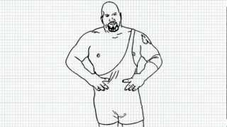 Big Show - How to draw Big Show - Video - The Giant from WWE