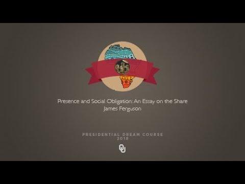 James Ferguson - Presence and Social Obligation: An Essay on the Share (2017