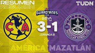 Resumen y goles | América 3-1 Mazatlán | Guard1anes 2020 Liga BBVA MX - J8 | TUDN