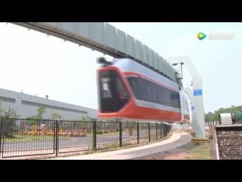 China's fastest suspension railway line has been put in trial operation in Qingdao