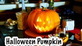Как сделать фонарь из тыквы на Хэллоуин \ How to Carve Halloween Pumpkins