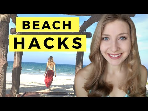 How to keep your stuff safe while you swim | Beach Hacks for Solo Travelers