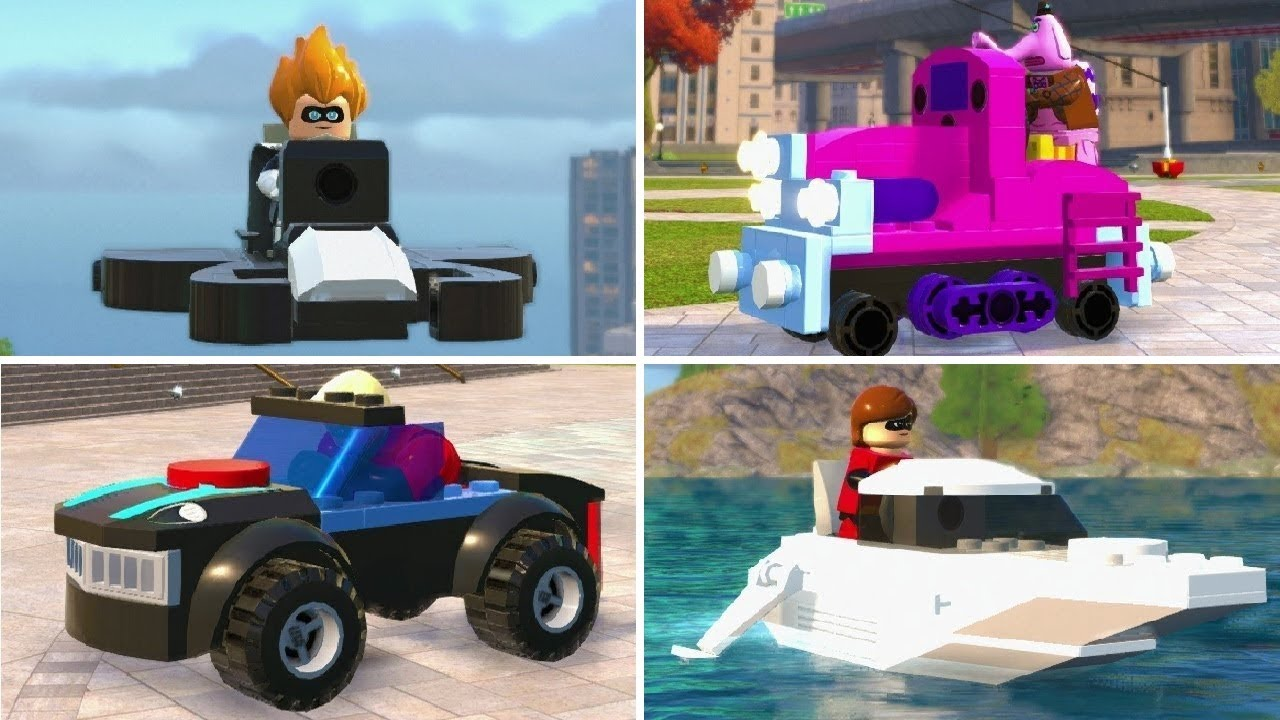 LEGO The Incredibles - All Micro Vehicles Unlocked (Gameplay Showcase)