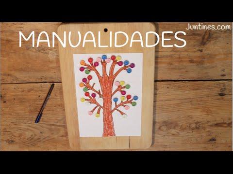Manualidades con botones de colores: Mira cómo hacer un precioso árbol