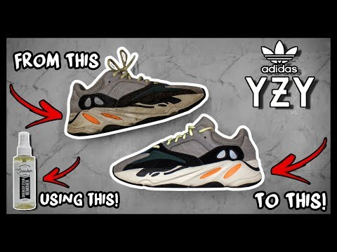 CLEANING FILTHY ADIDAS WAVERUNNER YEEZY 700's TO LOOK BRAND NEW AGAIN!