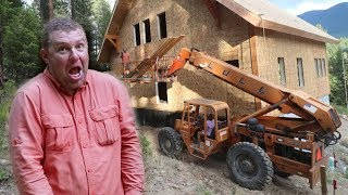 RAN INTO OUR HOUSE WITH A FORKLIFT! Twice!