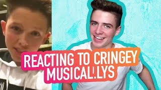 REACTING TO CRINGEY MUSICAL.LYS | Bruhitszach