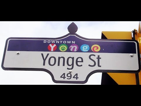 Driving entire length of Yonge Street (the longest street in the world) from Toronto to Barrie