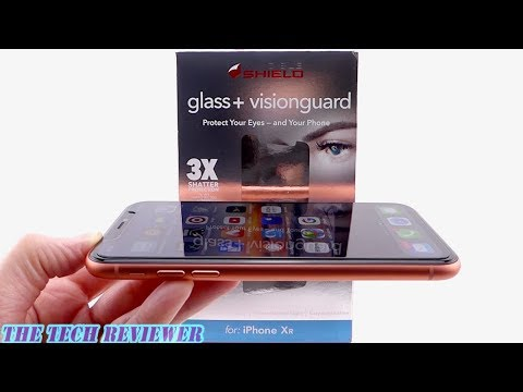 Zagg Glass+ VisionGuard for iPhone XR: Protects your Screen…and your Eyes!