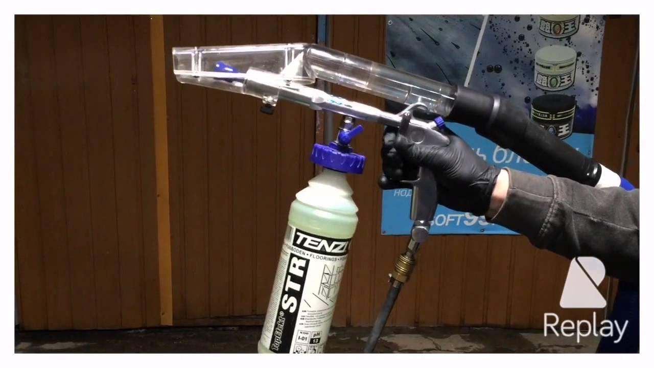 Пистолет для пневмо-химчистки cyclone z010 описание: функционирует за счет сжатого воздуха, распыляет не только воздух, но и моющее средство,