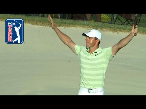 Rory McIlroy drains birdie putt on the 72nd hole at Arnold Palmer
