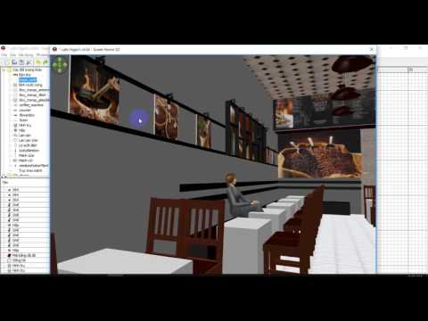 3d Cafe shop - Preview - sweethome 3D