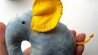 Sew A Small Hand Elephant - Diy Crafts - Guidecentral