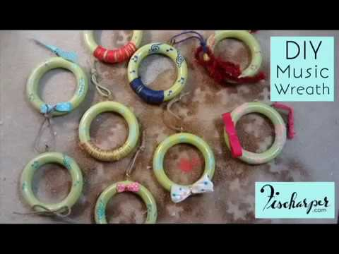 Christmas Wreath DIY // Curtain Ring UPCYCLE // Fischarper