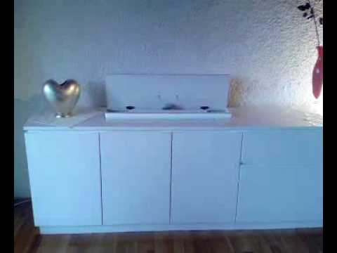 tv lifter in m bel integriert youtube. Black Bedroom Furniture Sets. Home Design Ideas