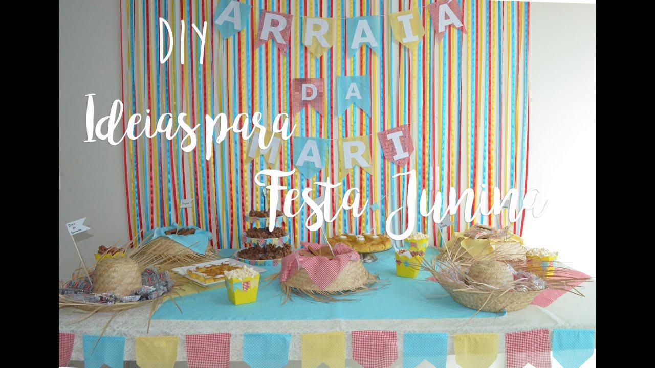 DIY Ideias para Festa Junina (2016) YouTube -> Ideias Para Decoração De Festa Junina Simples