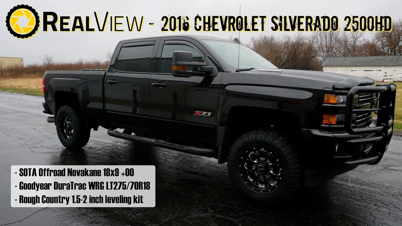 "2017 Sierra Lifted >> RealView - Leveled 2016 Chevy Silverado 2500HD w/ 18"" SOTA Novakanes & 33"" Goodyear DuraTracs ..."